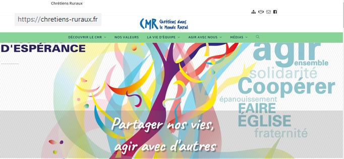 Nouveau site internet au National : chretiens-ruraux.fr